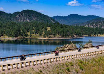 Motorcycling Pactola Lake