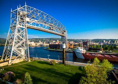 Ship and Lift Bridge Visit Duluth